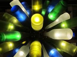 Blue Bottle Chandelier by Chandeliers Zuma Creations