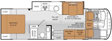 best of class a and class c motorhome ace 29 2 floor plan rv