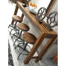 long counter height table long counter height table torjin rustic long counter table by