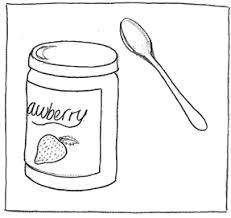 drawn jam jam bottle pencil and in color drawn jam jam bottle