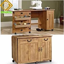 Drop Leaf Computer Desk Sewing Machine Desk Craft Tools Storage Table Folding Drop Leaf