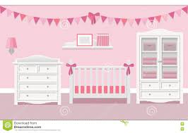 Baby Room Interior by Interior Of Baby Room Vector Illustration Stock Vector Image