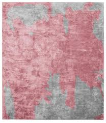 Pink And Black Rug Nuage Abstract Gray Black Rug