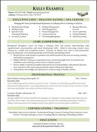 Culinary Resume Templates 16 Free Resume Templates Excel Pdf Formats
