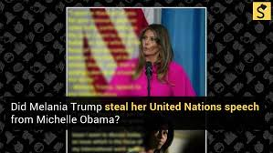 Meme Michelle Obama - fact check did melania trump steal her united nations speech from