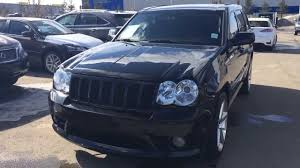 cherokee jeep 2010 pre owned black 2010 jeep grand cherokee srt8 4wd alberta youtube