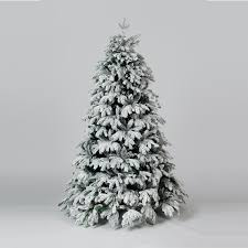 6ft cascade premium flocked artificial pine christmas tree ebay