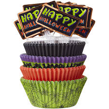 halloween cupcake liners amazon com halloween cupcake liners combo pack 150 count