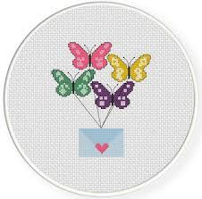 messenger butterflies cross stitch pattern daily cross stitch