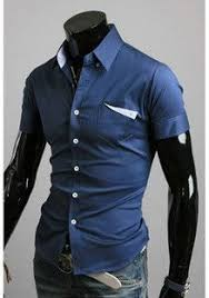 summer trendy dress party business shorts sleeve shirts for men