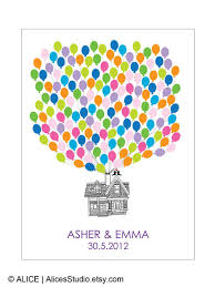 wedding gift registry book wedding guest book alternative personalized flying up house