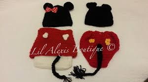 Halloween Costumes And Props Lil Alexis Boutique Twin Mickey And Minnie Mouse Set For Newborn