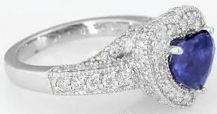 chagne diamond engagement ring color change heart shape sapphire and diamond halo ring in