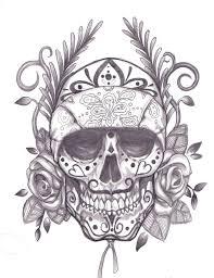 dia de los muertos skull sample