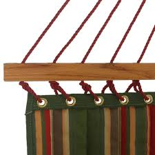large quilted fabric hammock in trellis garden dfohome