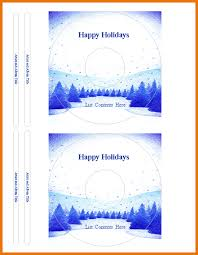 microsoft office label templates winter cd or dvd label template