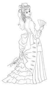 belle coloring pages kids omalovanky belle