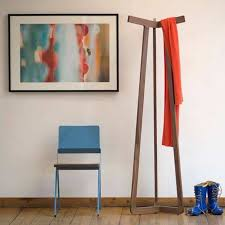 simple modern wooden standing coat rack standing coat rack