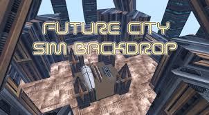 backdrop city second marketplace future city sim backdrop