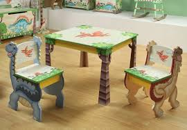 childrens table and chair set with storage kids wooden table and set of 2 chairs happy farm room collection