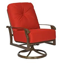 Rocking Chair With Cushions Woodard Cortland Cushion Swivel Rocking Lounge Chair 4z0477