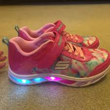 rainbow light up shoes skechers shoes girls lightup rainbow glitter sneakers poshmark