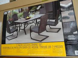 Costco Patio Furniture Dining Sets Agio International 7 Fairview Woven Dining Set
