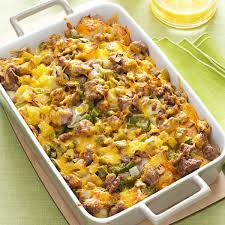 easy breakfast strata recipe taste of home