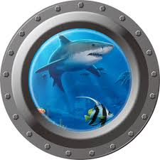 3d view window submarine wall sticker decals porthole