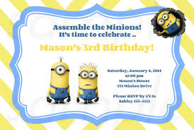 free invitations templates free printable minion birthday party invitations ideas template
