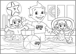 11 images of safe swimming coloring pages swimming safety