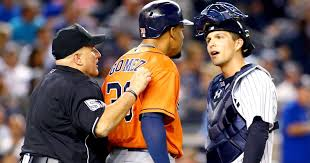 Red Sox Yankees Benches Clear Benches Clear After Yankees Take Issue With Bat Flip By Astros