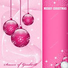 christmas balls decorations pink u2014 stock vector toots77 3686367