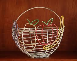 metal fruit basket metal fruit basket etsy
