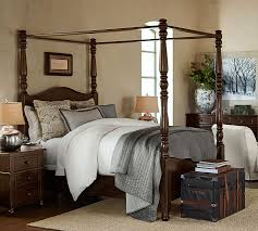 Bed Frame And Dresser Set Cortona Canopy Bed Dresser Set Pottery Barn Throughout Awesome