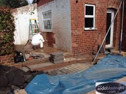 brick cleaning soda blasting uk