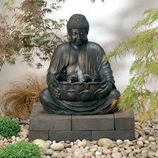 Solar Powered Water Features With Led Lights by Solar Powered Buddha Water Feature 109 99