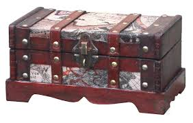 Old World Map Amazon Com Vintiquewise Tm Old World Map Wooden Trunk Box Set