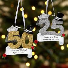 anniversary christmas ornament personalized milestone christmas ornaments at personal creations
