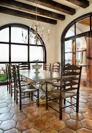 Spanish Style Old World Dining Room Exceptional Slate Flooring - Dining room spanish