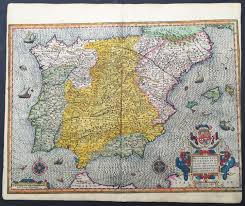 Map Of Spain by 1607 Mercator Antique Map Of Spain U0026 Portugal U2013 Classical Images