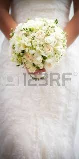 White Wedding Bouquets Beautiful Tender Wedding Bouquet Of Cream Roses And Eustoma