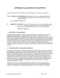 contratto locazione box auto appendice al contratto di affitto modelli e esempi di moduli
