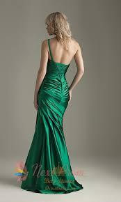 emerald green one shoulder dress emerald green mermaid dress