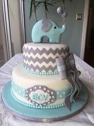 baby shower cake elephant theme boys onesie cookies and ba boy on