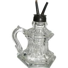 boston u0026 sandwich antique glass whale oil finger lamp ca 1850 from