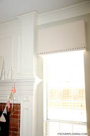 Fabric Covered Wood Valance Diy Nailhead Cornice Board Makeover This Might Be A Good Idea