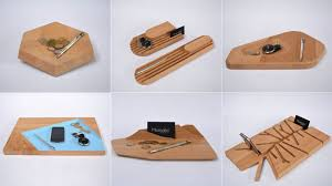 Wooden Desk Accessories 10 Desk Accessories Designed From A Single Slab Of Wood