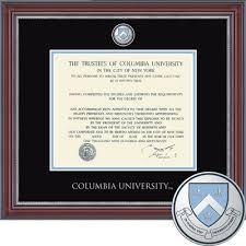 degree frames diploma frames columbia bookstore