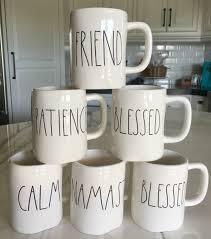 rae dunn mug rae dunn mugs with large letters long story short